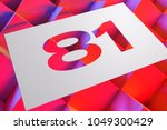 number 81 on the geometric... | Shutterstock . vector #1049300429