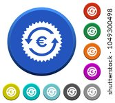 euro pay back guarantee sticker ... | Shutterstock .eps vector #1049300498
