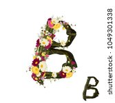 letter b vector alphabet with... | Shutterstock .eps vector #1049301338