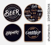 set of coasters for beer with... | Shutterstock .eps vector #1049302646