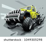 extreme off road vehicle suv ... | Shutterstock .eps vector #1049305298