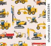 excavator for construction... | Shutterstock .eps vector #1049306594