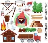 timber vector lumberman... | Shutterstock .eps vector #1049306750