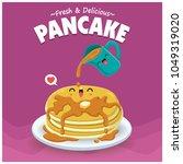 vintage food poster design with ... | Shutterstock .eps vector #1049319020