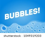 shampoo soap bubbles in bath or ... | Shutterstock .eps vector #1049319203