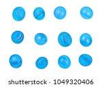 blue decorative glass pebbles... | Shutterstock . vector #1049320406