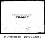 grunge frame. vector... | Shutterstock .eps vector #1049322053