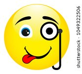 funny and strange smile with a... | Shutterstock .eps vector #1049322506