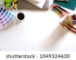 designer workplace   creative... | Shutterstock . vector #1049324630