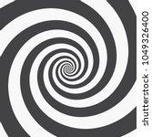 hypnotic spiral background.... | Shutterstock .eps vector #1049326400