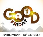 good friday illustration... | Shutterstock .eps vector #1049328830