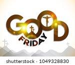 good friday illustration... | Shutterstock .eps vector #1049328830