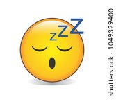 sleepy face emoji vector | Shutterstock .eps vector #1049329400