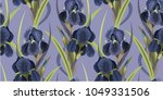 seamless floral pattern with... | Shutterstock .eps vector #1049331506