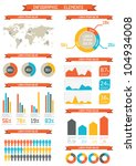 retro infographics set. world... | Shutterstock .eps vector #104934008