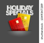 holiday specials sale   credit... | Shutterstock .eps vector #1049347289