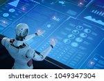 3d rendering humanoid robot... | Shutterstock . vector #1049347304