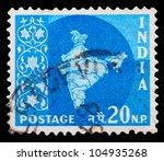 india   circa 1960  a 1 rupee...   Shutterstock . vector #104935268