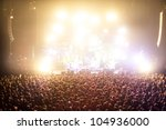 cheering crowds in a rock... | Shutterstock . vector #104936000