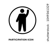 participation icon  isolated on ... | Shutterstock .eps vector #1049361329