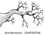 tree theme drawing 3   vector... | Shutterstock .eps vector #104936546