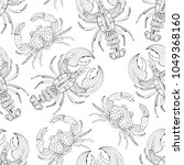vector seamless pattern with... | Shutterstock .eps vector #1049368160