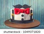 beautiful cake for men ... | Shutterstock . vector #1049371820