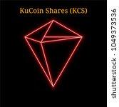 red neon kucoin shares... | Shutterstock .eps vector #1049373536