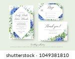 wedding floral invite  rsvp ... | Shutterstock .eps vector #1049381810