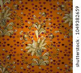 seamless pattern oriental...   Shutterstock .eps vector #1049382659