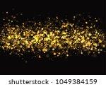 gold glitter texture. irregular ... | Shutterstock .eps vector #1049384159
