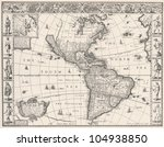 1626 Antique Map Of North And...