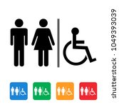 wc toilet icon   Shutterstock .eps vector #1049393039