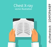 chest x ray. doctor checking... | Shutterstock .eps vector #1049396489