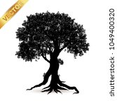 tree silhouette isolated on... | Shutterstock .eps vector #1049400320