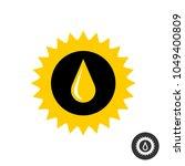 sunflower oil icon. sun flower... | Shutterstock .eps vector #1049400809