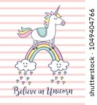 unicorn t shirt design on... | Shutterstock .eps vector #1049404766