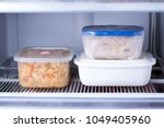 frozen food in a container in... | Shutterstock . vector #1049405960