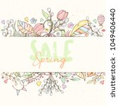 spring sale card can be used... | Shutterstock .eps vector #1049406440