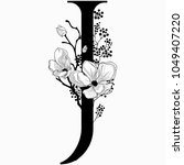 vector hand drawn floral j... | Shutterstock .eps vector #1049407220