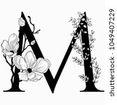 vector hand drawn floral m... | Shutterstock .eps vector #1049407229