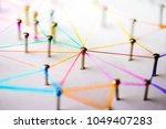 linking entities. networking ... | Shutterstock . vector #1049407283