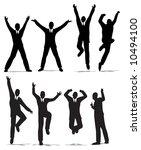 happy jump businessman...   Shutterstock .eps vector #10494100