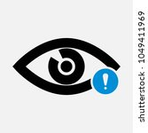 eye icon with exclamation mark. ... | Shutterstock .eps vector #1049411969
