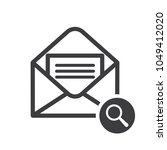 envelope icon with research... | Shutterstock .eps vector #1049412020