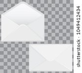 set of envelopes. two blank... | Shutterstock .eps vector #1049412434