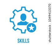 skills icon with star sign.... | Shutterstock .eps vector #1049413370