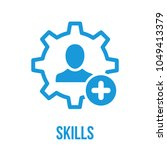 skills icon with add sign.... | Shutterstock .eps vector #1049413379