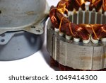 damaged parts of the air... | Shutterstock . vector #1049414300