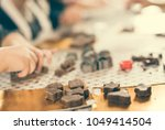 kids making sweets on table... | Shutterstock . vector #1049414504